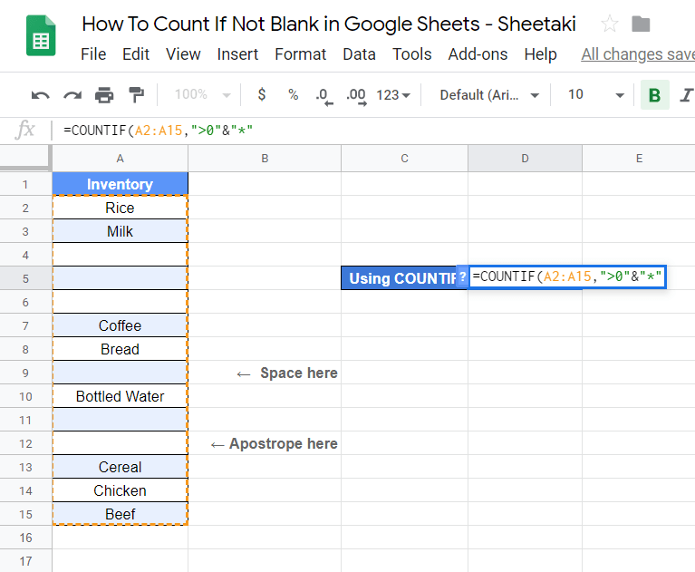 How to Count If Not Blank in Google Sheets: 3 Ways [2020 Update]