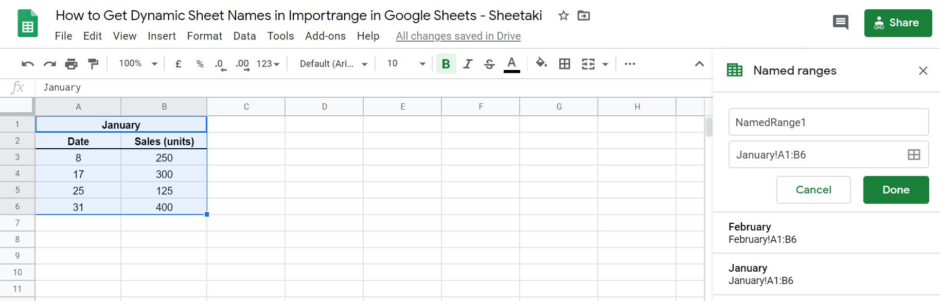 Get Dynamic Sheet Names in Importrange in Google Sheets