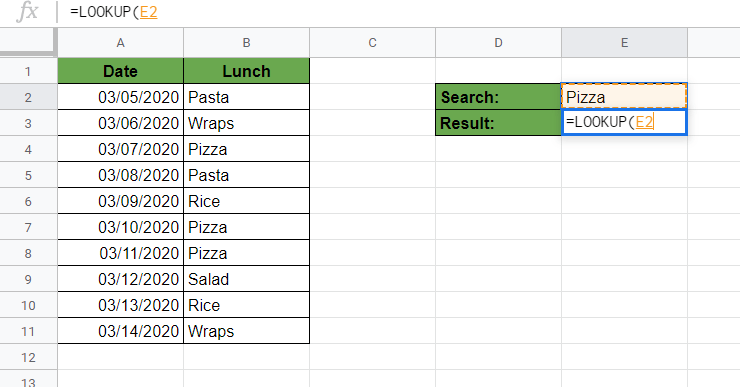 Writing Our LOOKUP Function