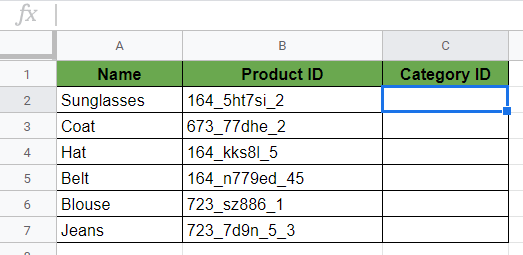 LEFT Function in Google Sheets
