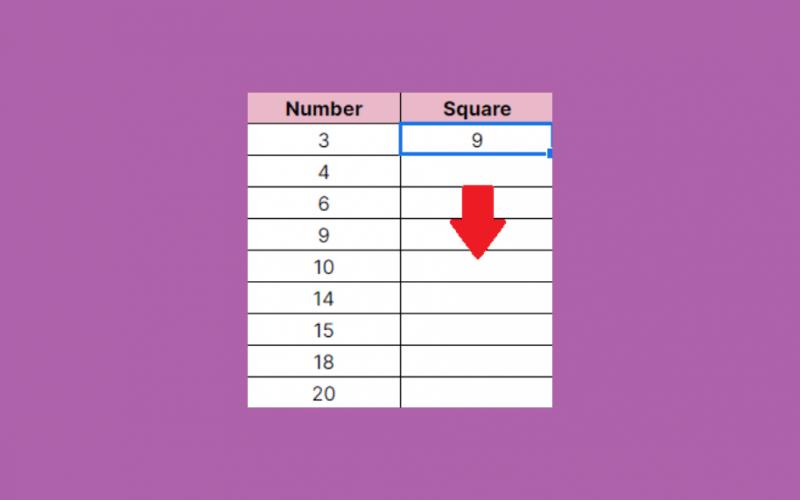 Copy a Formula Down an Entire Column in Google Sheets