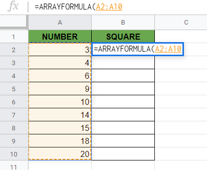 Copy a Formula Down an Entire Column in Google Sheets