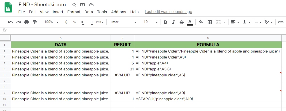 FIND Example