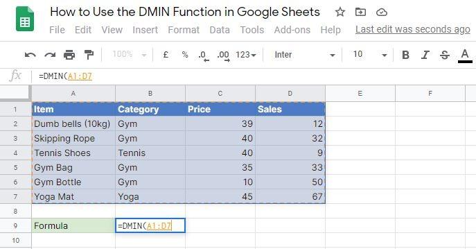 DMIN database attribute