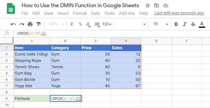 DMIN field attribute