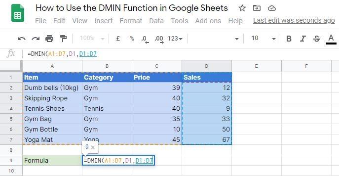 DMIN criteria attribute