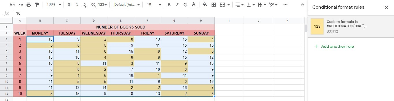 Highlight the smallest n values in each row in google sheets