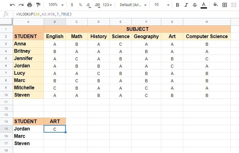 Create a hyperlink to VLOOKUP output cell in Google Sheets
