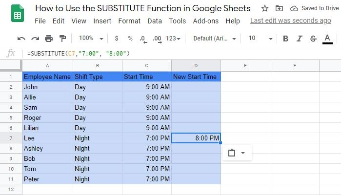 Real Example of Using the SUBSTITUTE Function