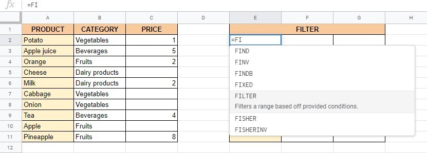 How to Use IF within the FILTER Function in Google Sheets
