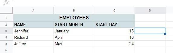 How to convert month name to number in Google Sheets