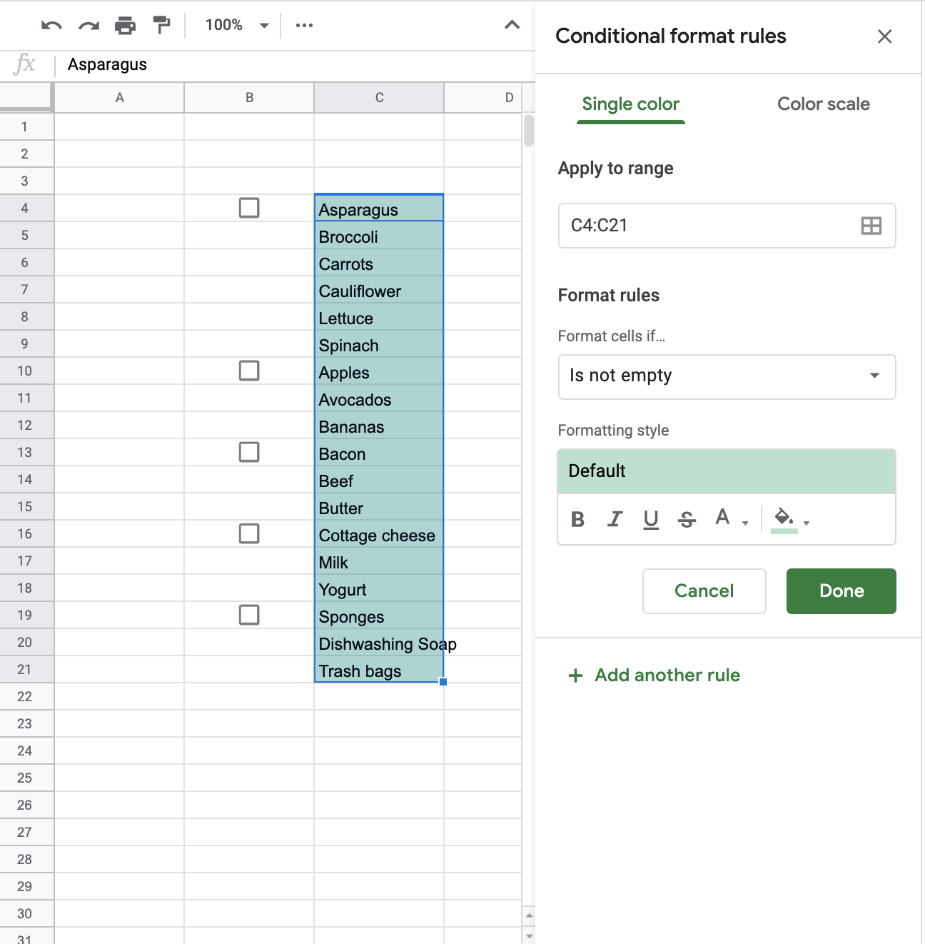 How to Highlight Multiple Groups and Control Tick Boxes in Google Sheets