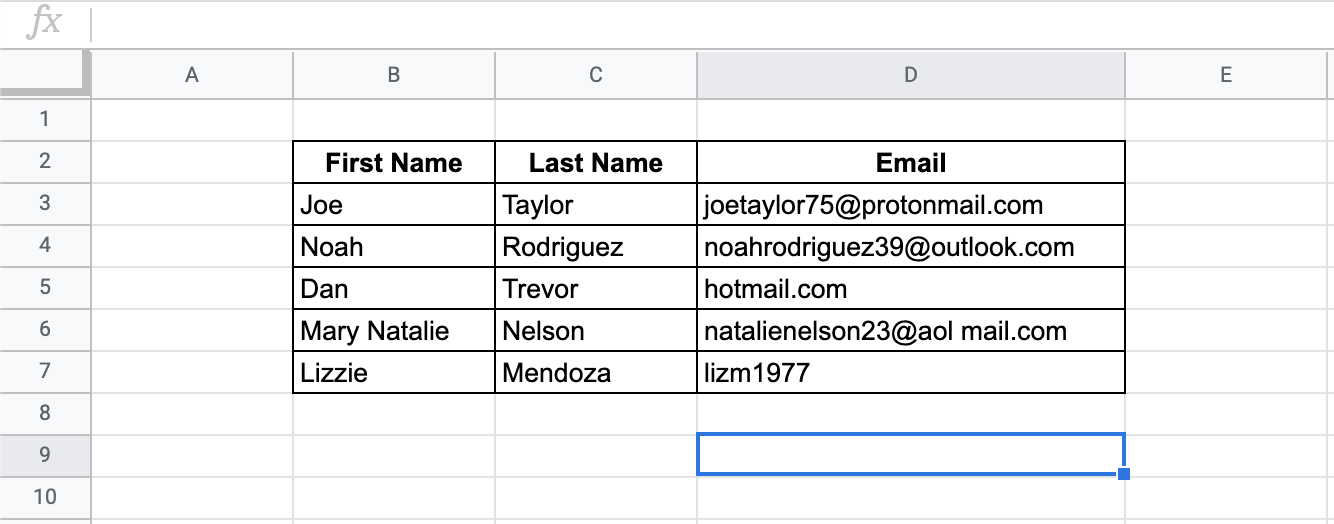 How to Use ISEMAIL Function in Google Sheets