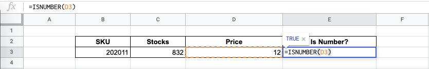 How to Use ISNUMBER Function in Google Sheets