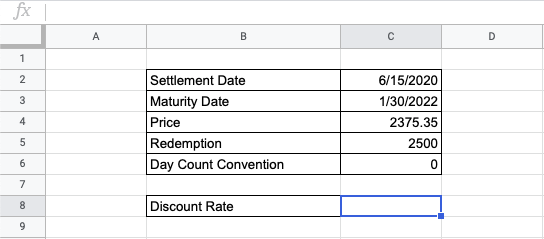 How to Use DISC Function in Google Sheets