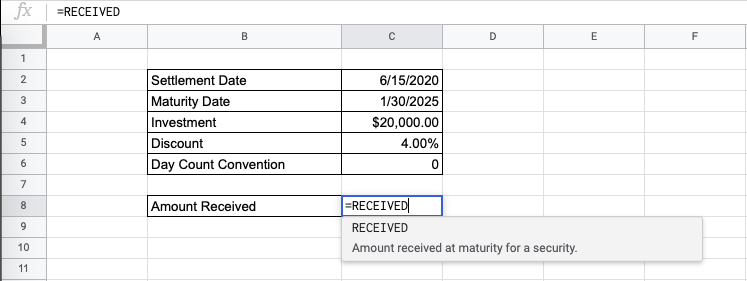 How to Use RECEIVED Function in Google Sheets