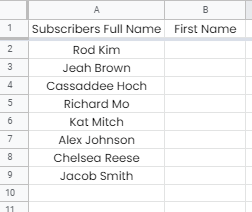 How to Separate First and Last Name in Google Sheets