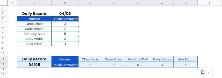 How to Transpose Data in Google Sheets