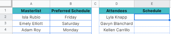 How to use IFNA function in Google Sheets