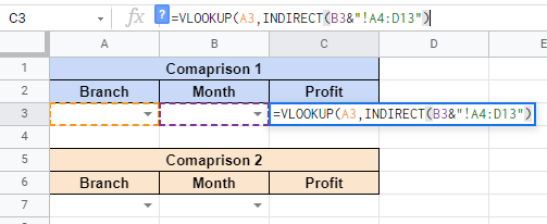 How to Use INDIRECT Function in Google Sheets
