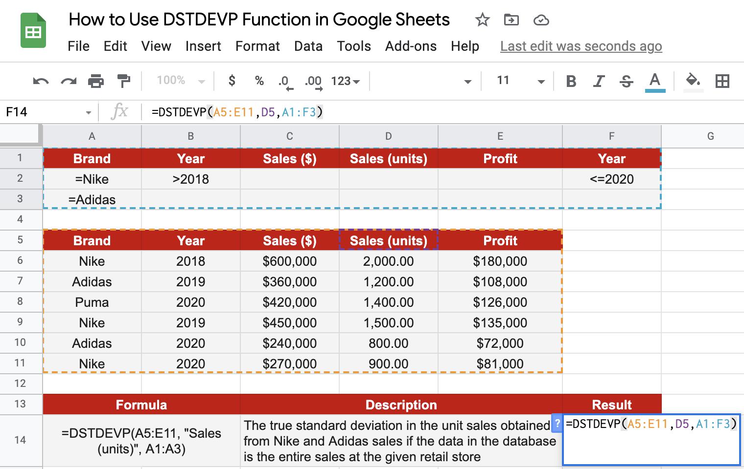 DSTDEVP sample walkthrough