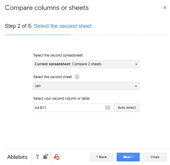 How to Compare Two Sheets in Google Sheets