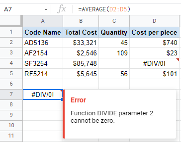 #DIV/0! Error in Google Sheets? Here's The Fix!