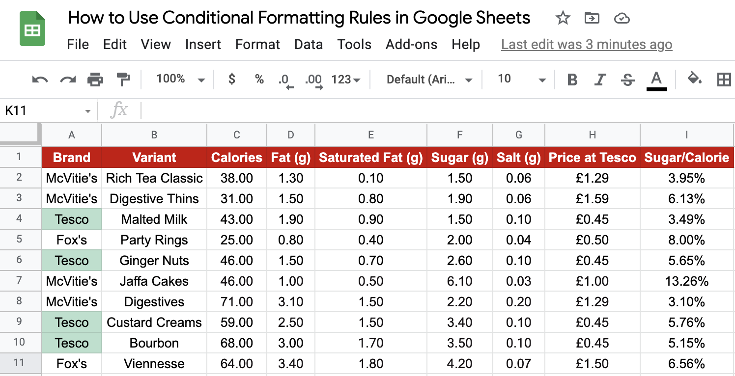 Conditional Formatting Output