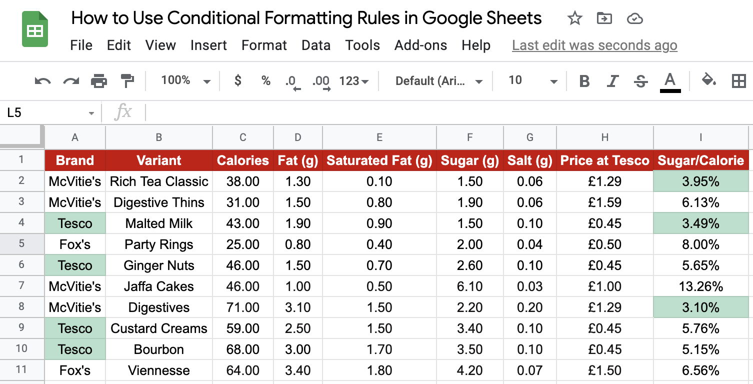 Conditional Formatting Numbers
