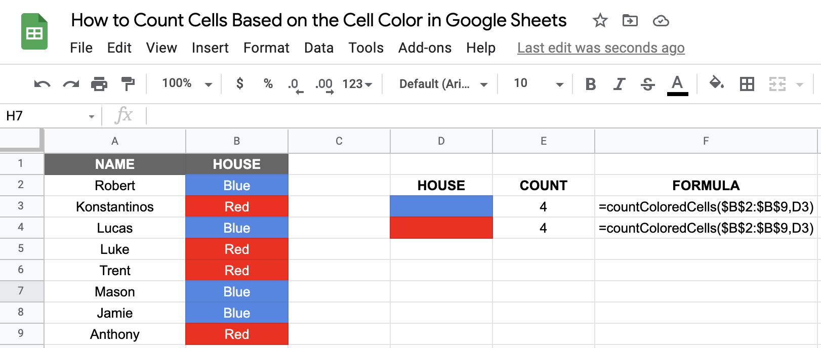 Count Cells by Color