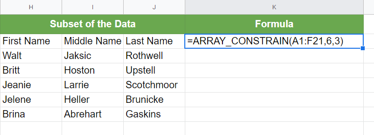 A Real Example of Using ARRAY CONSTRAIN Function