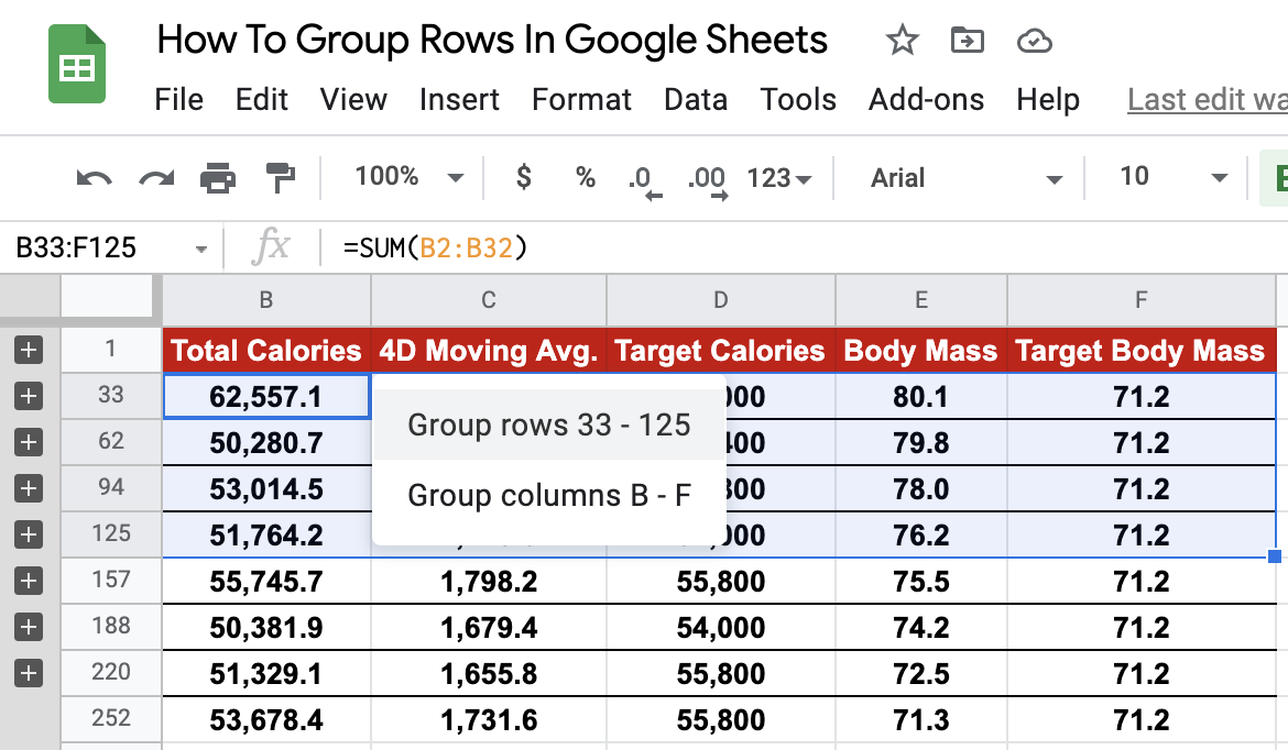 Faster Grouping of Rows