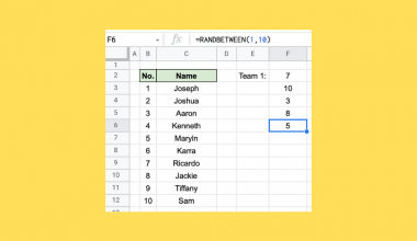 How to Generate Random Numbers in Google Sheets