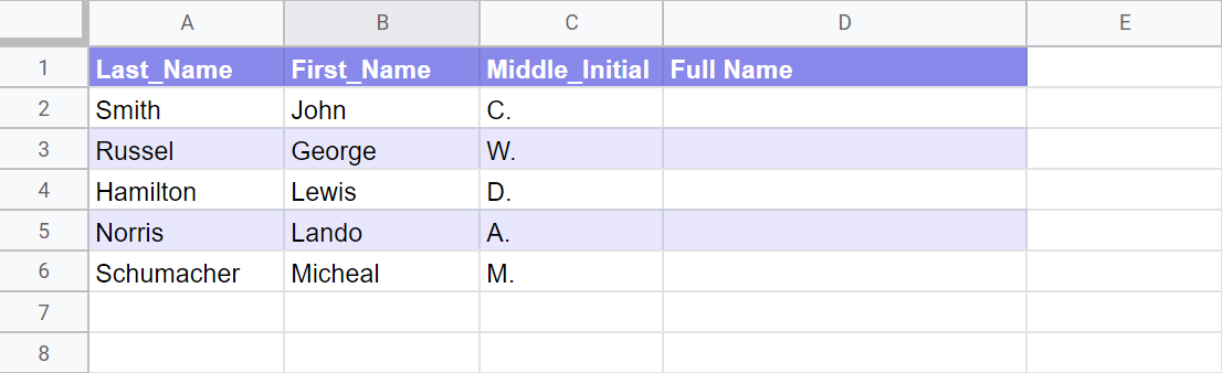 Multiple rows can be combined into one column